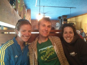 With Austin and Ellen in Corvallis, post-shakeout run