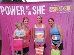 with the OA winner (center) and Erica (#3, right), and A. Her attention was had at the sight of the pink gift bag.