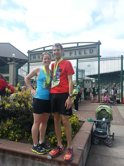 after we both big PRed at Eugene in April '13 (also the last time I saw him! what?!)
