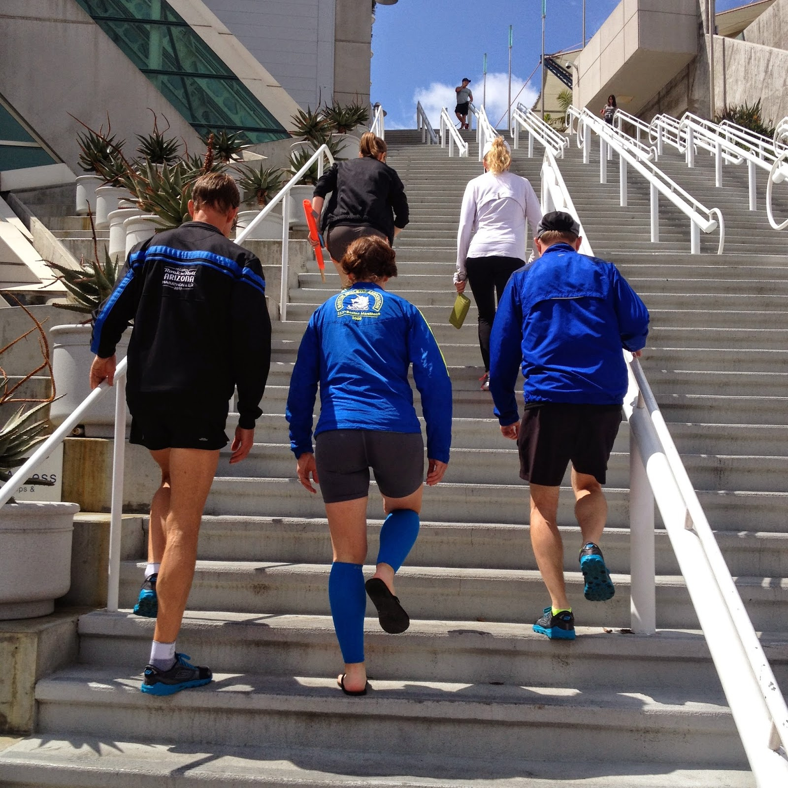 we also decided some stairs cross-training was in order