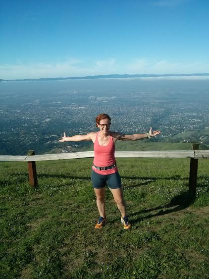 being a dork at the top (one of the tops!) at Alum Rock here in SJ