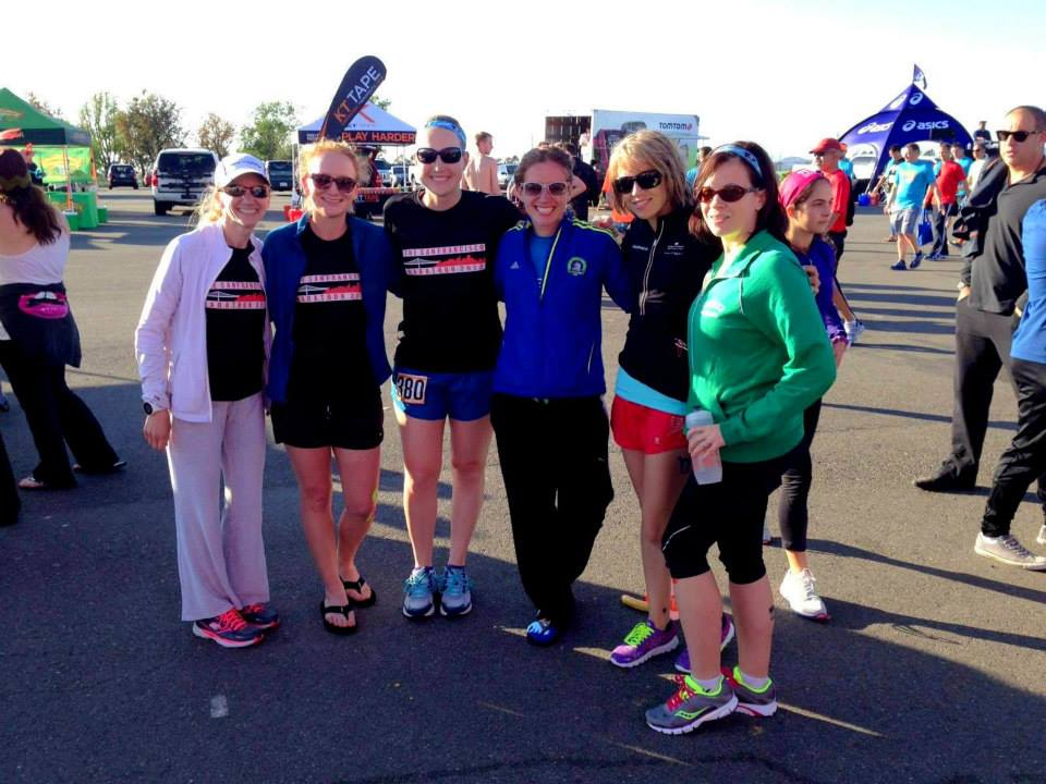 the Ragnar ladies, sans Jordan, who was pottying. Lady pic fail. Kristina, Miriam, Paulette, me, Meg, and Alisyn