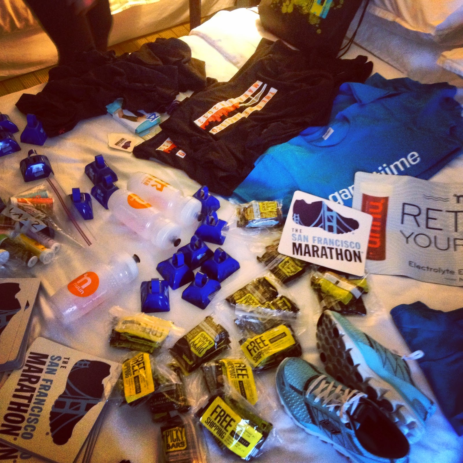 sponsor swag-sorting in Anaheim