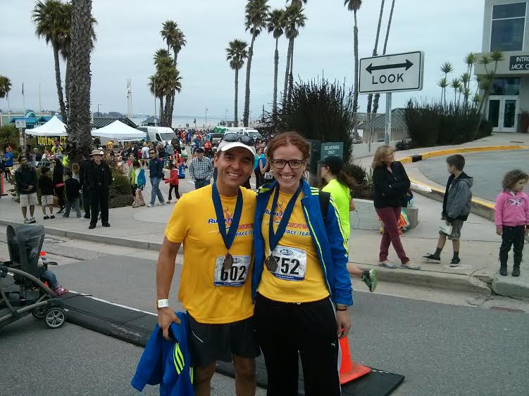 Served as an official pacer for the first time! 1:45 group at the Santa Cruz half marathon with co-pacer/RA buddy, Adam here. We brought our group in, which also included some PRs, at 1:44:28. SO. FUN.