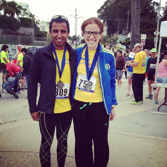 and twitter-friend-turned-IRL-friend-once-I-moved-here Anil ran with us and rocked it (and came in hot for a sub-1:45 finish)!
