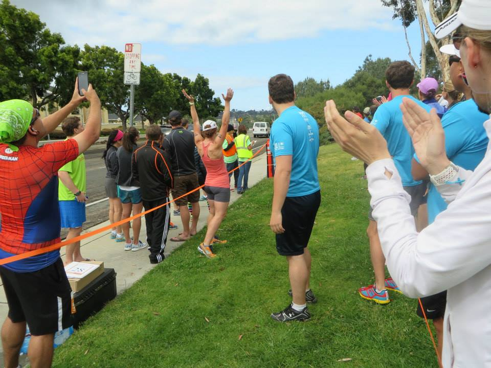 from Ragnar SoCal. Cheering for other runners brings me to my happy place, much as running does. (credit: Jordan)