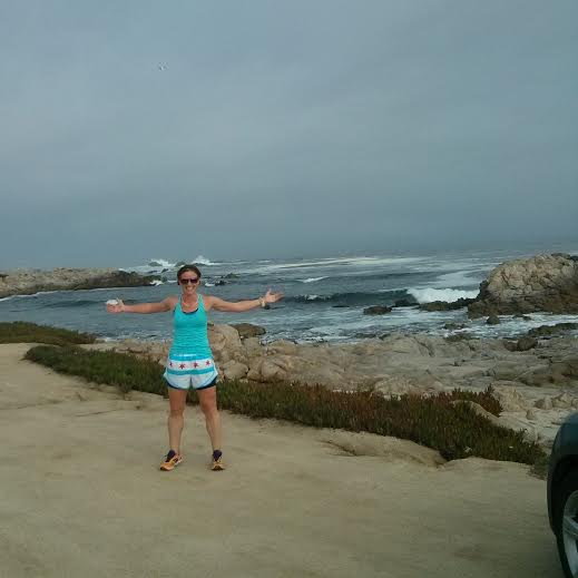 showcasing Chicago love on a run in Monterey before the spectating fun began
