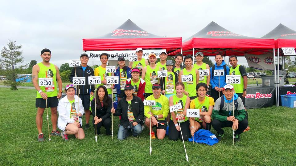 just a handful of RA half and full pacers at Brazen Racing's Western Pacific races on 5/3/14. See me? :) (photo cred: Linh)