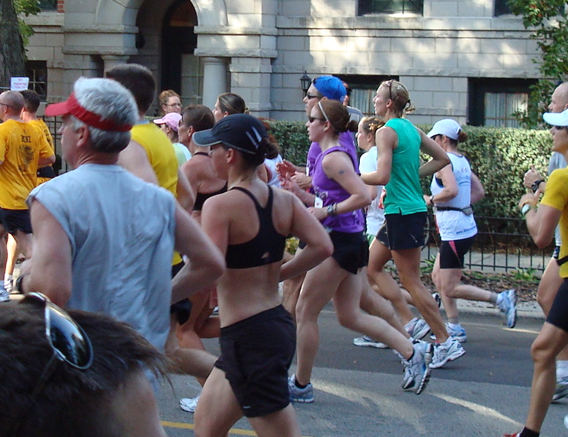 circa mile 9 of the 2008 Chicago Marathon