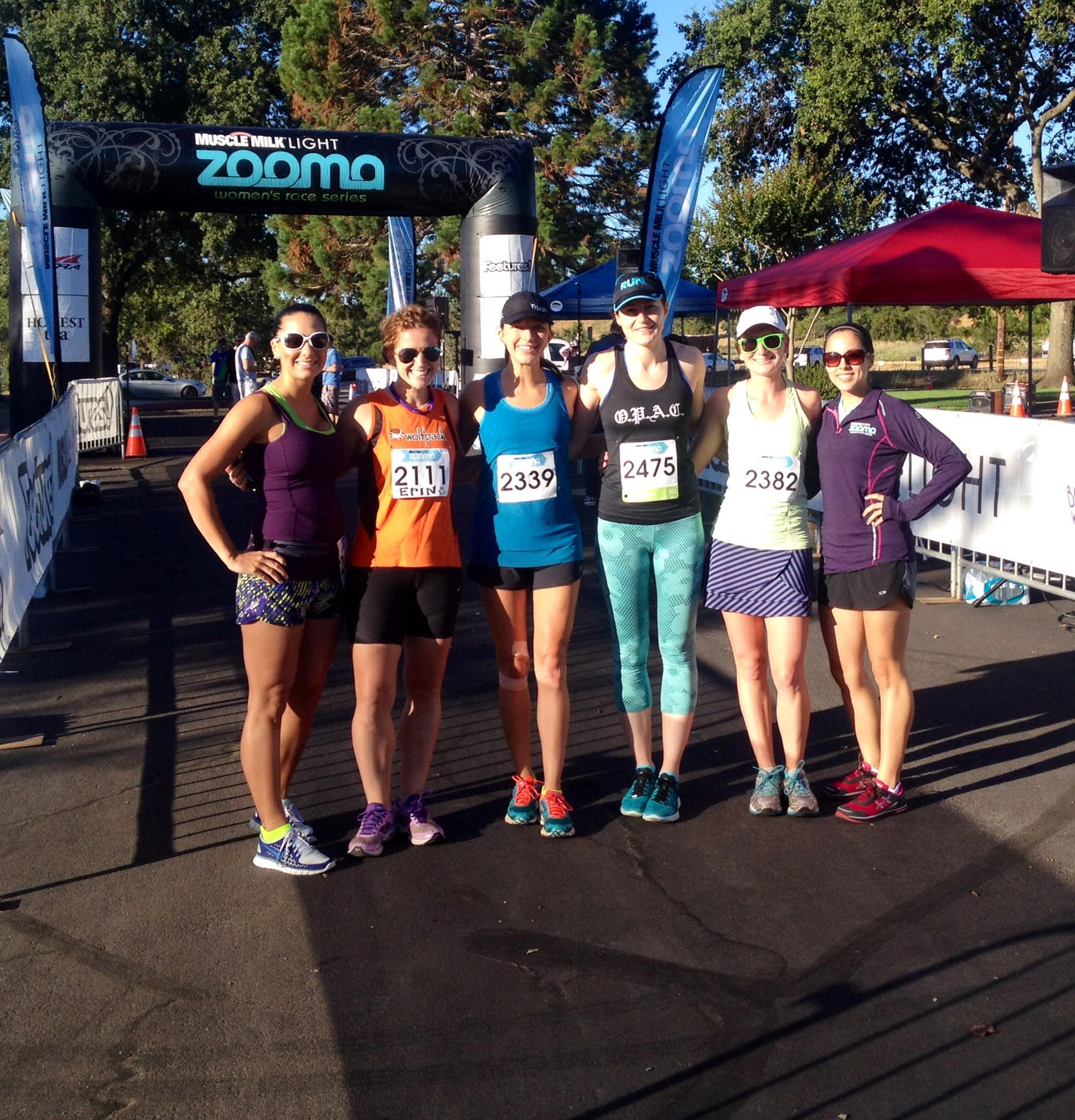 handful of the ZNV ambassadors: Nicole, Kara, Karen, Miriam (from Ragnar!), Haley