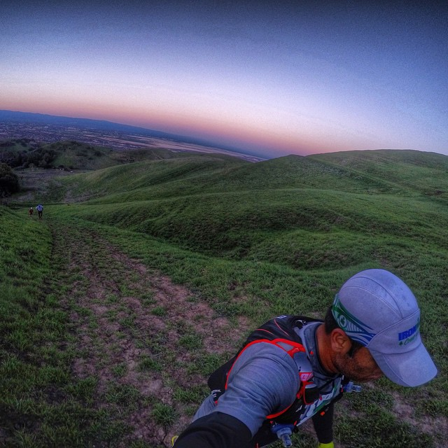 another early morning ascent with CJ and Saurabh, this time a touch faster! #smallvictories [PC: Saurabh]