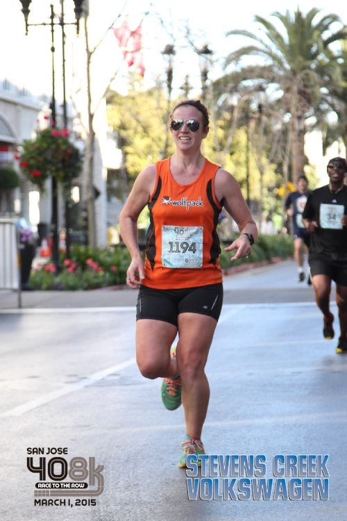 free race pics ftw! also, one day I'll learn that smiling mid-run just makes it look like I'm in pain. and: this shows why it is impossible for me to find super running shorts; I'm thigh gap antithesis. see also: quads for daaaaaaayz