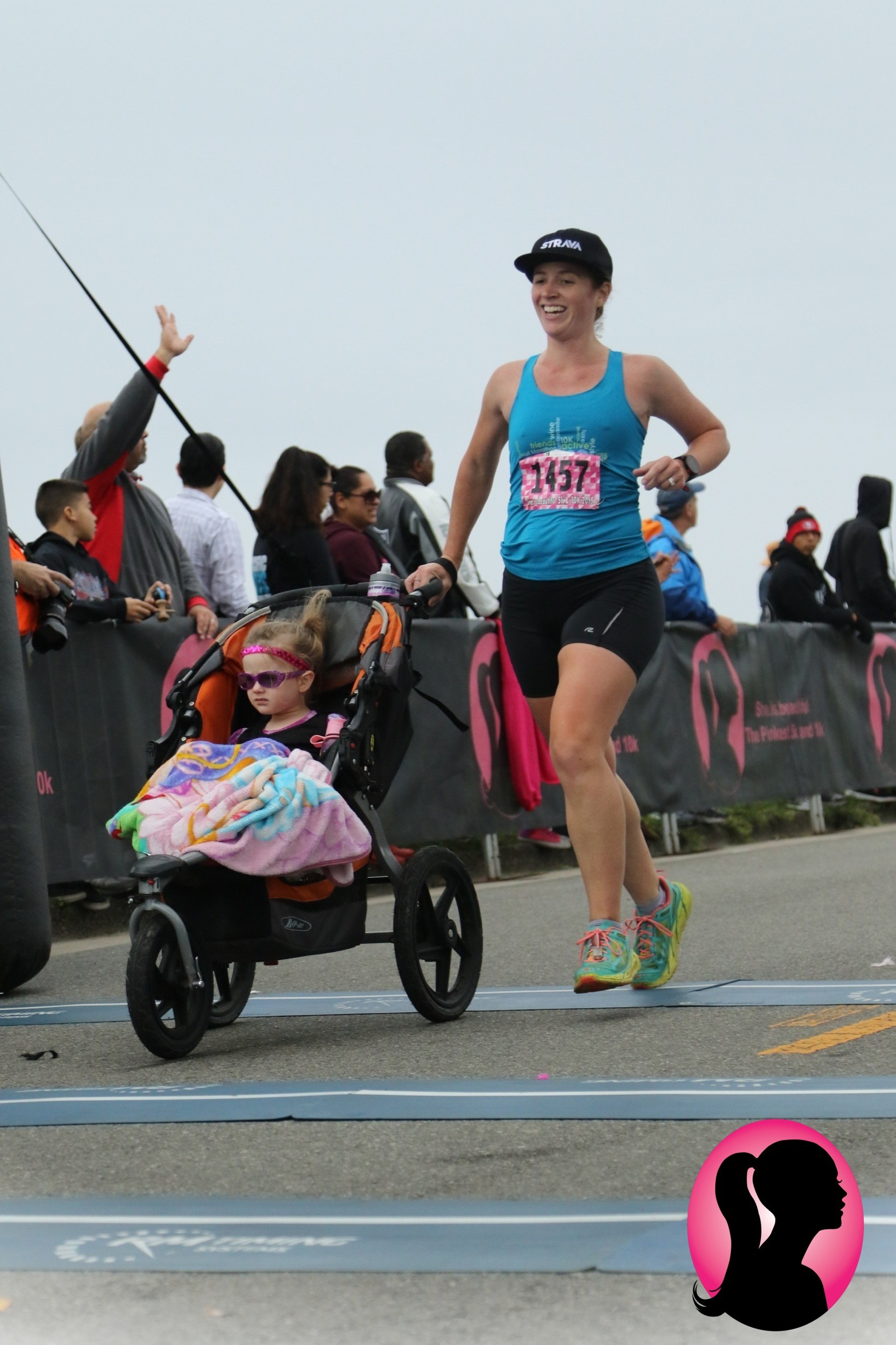 winning the 5k baby mama division (while pregnant) in 2015 at she.is.beautiful - Santa Cruz