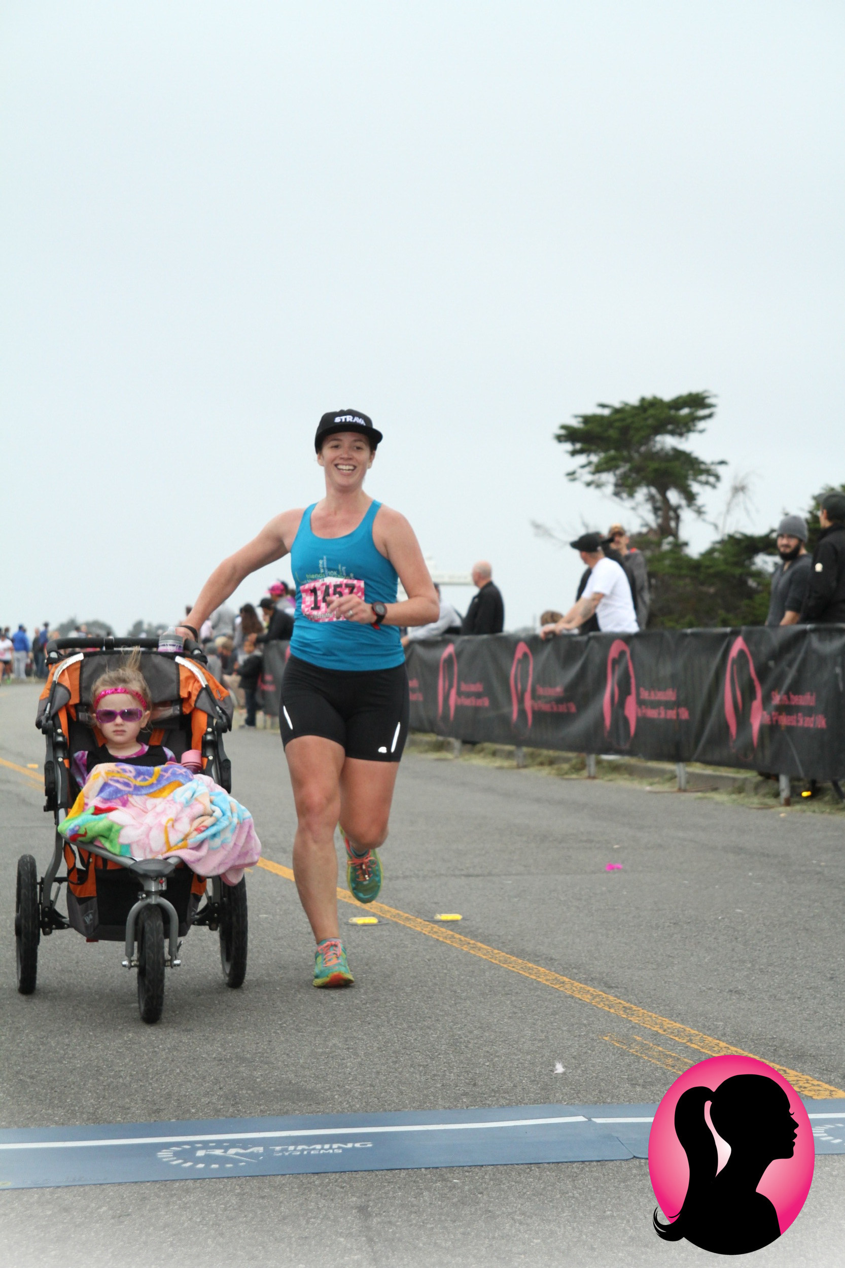 winning the she.is.beautiful 5k stroller division with A was a highlight of this pregnancy (sometime around 19 weeks?)