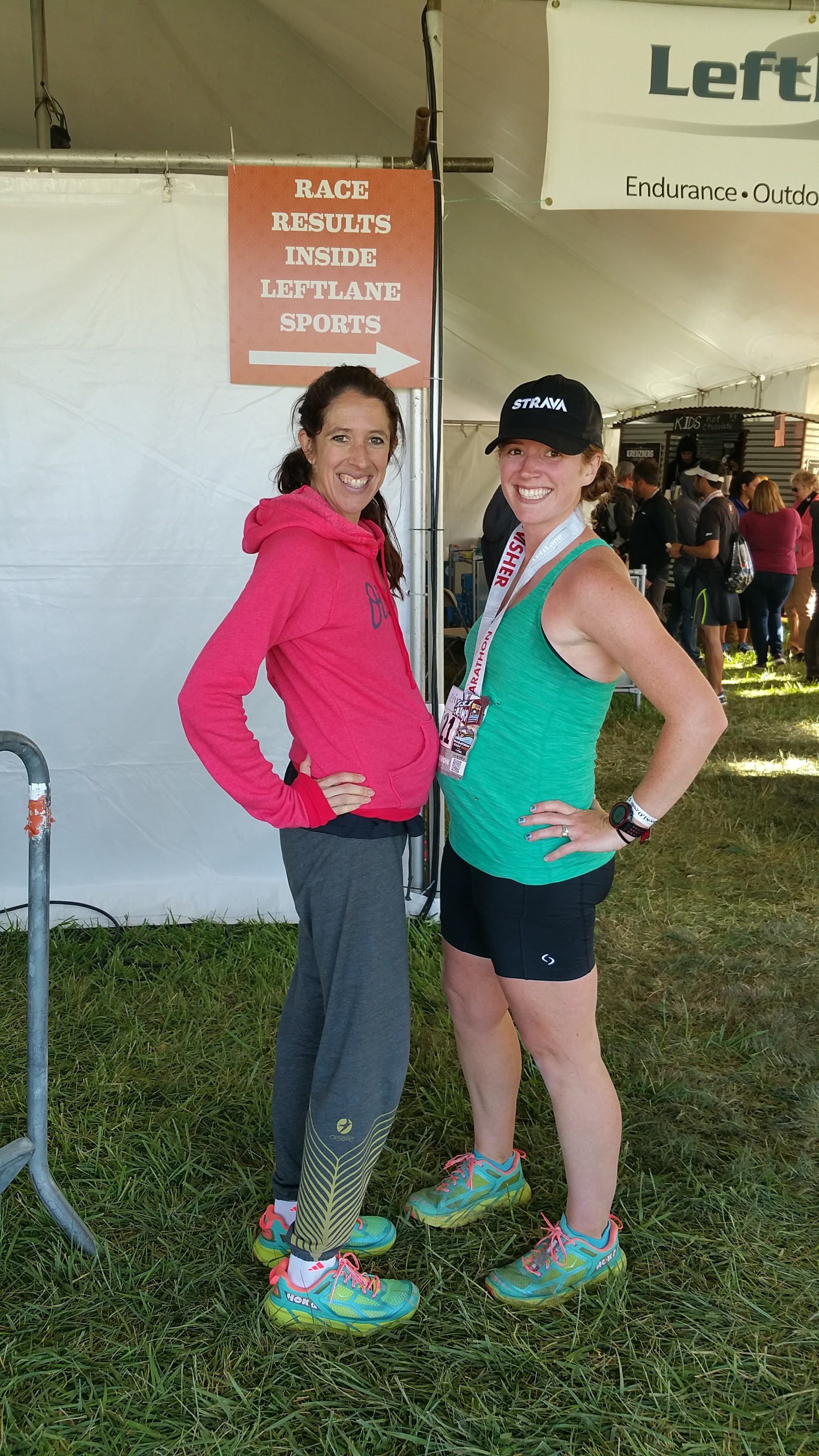 slightly awkward. and my, the differences between a 20 week pregnant pro runner and a 24 week pregnant non-pro runner!
