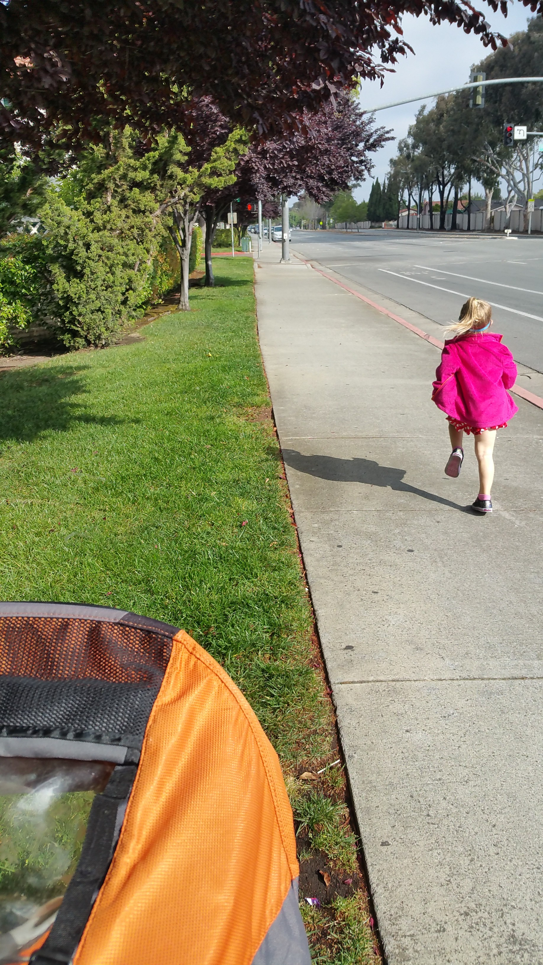 "running on Mother's Day with my girl -- pretty awesome stuff. the best type of ""running for the hell of it"" miles."