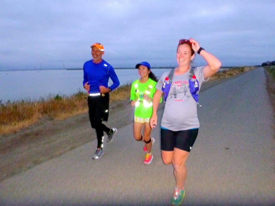 a 6am 13+ run over Mother's Day weekend with my RA buddies along the Bayshore Trail, through Mountain View, Palo Alto, and Sunnyvale -- I hadn't run with them since my 50k training! (PC: RA)