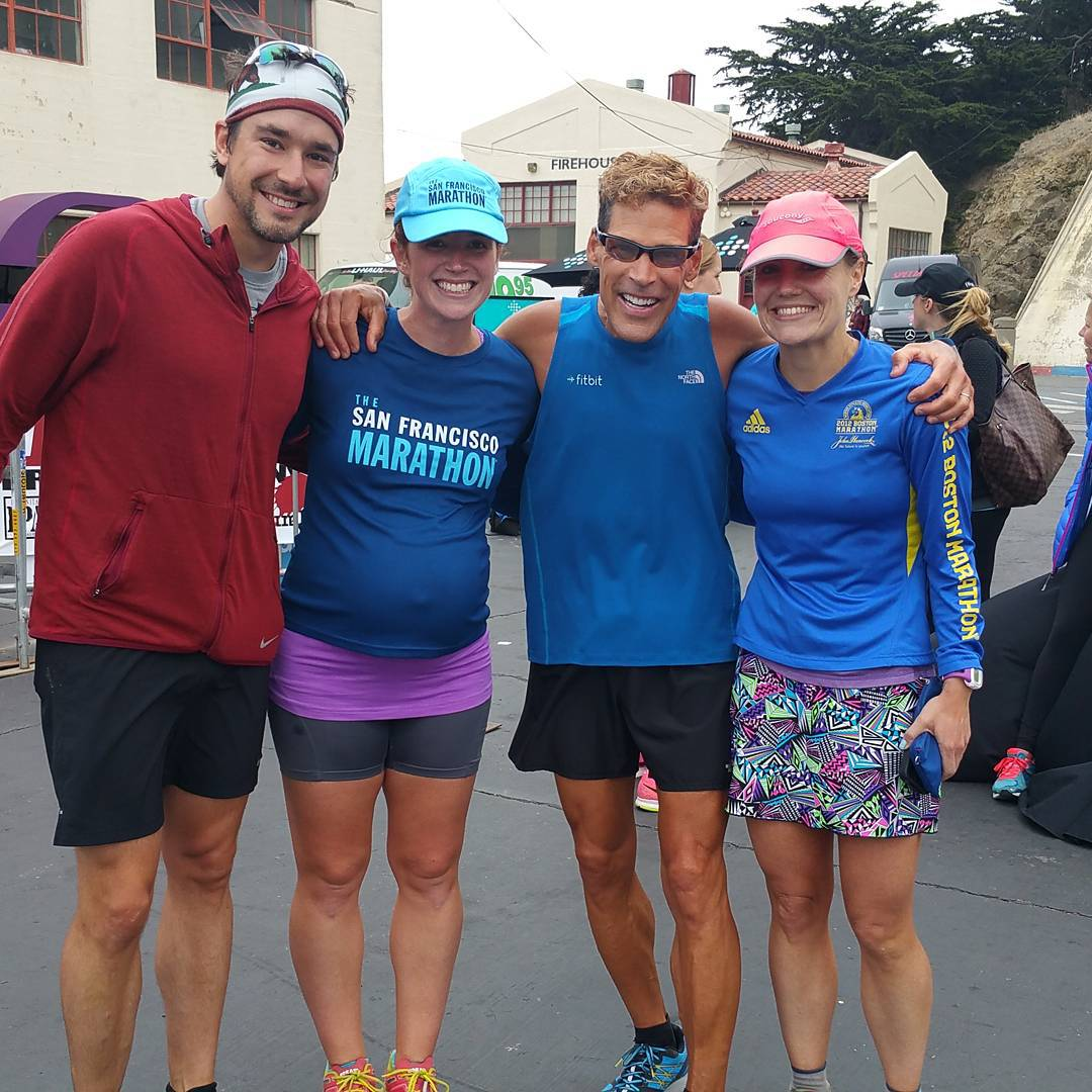 with Travis, Dean, and Meredith after the shake-out run. Dean was super chill (as runners often are, right??).