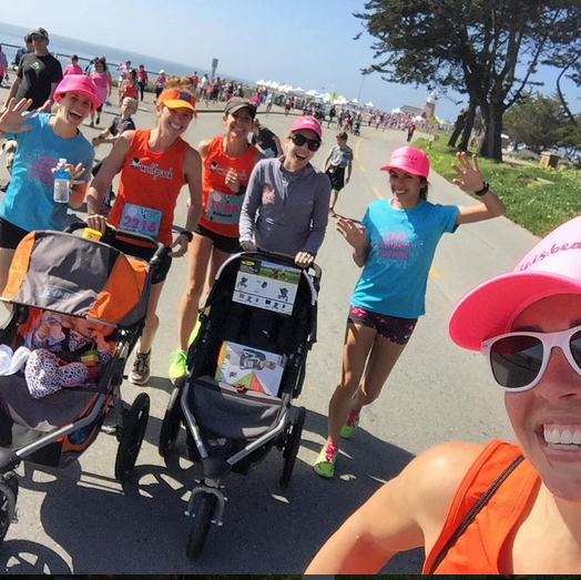 tomfoolery post-race. Meg is getting stroller practice :) (PC: Lisa)