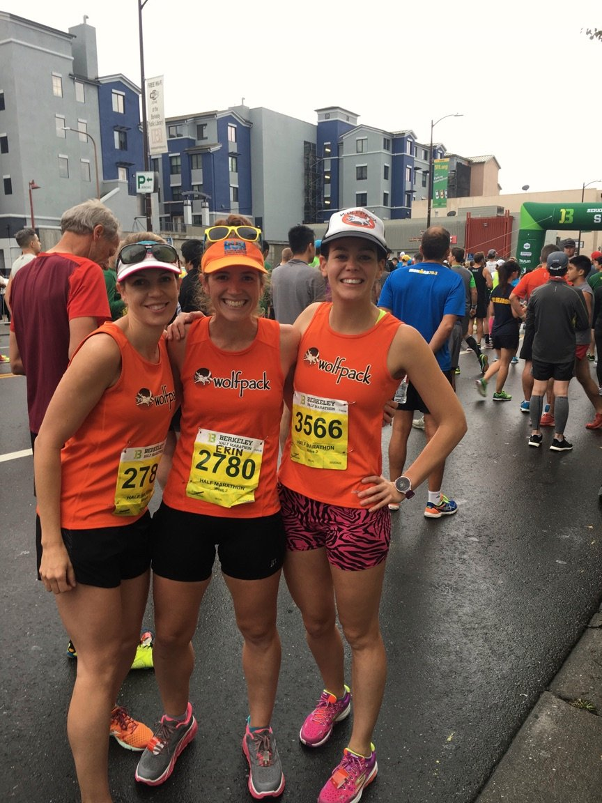 with Meg and KB in the starting corral (PC: Lisa)